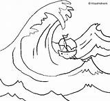 Wave Great Tsunami Coloring Drawing Pages Hame Kame Clolr Coloringcrew Getdrawings Colorear Print Again Bar Looking Case Don Find sketch template