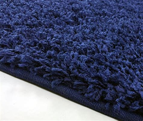 solid color kitchen rugs solid color navy blue shag area rug rugs shaggy collection 5597