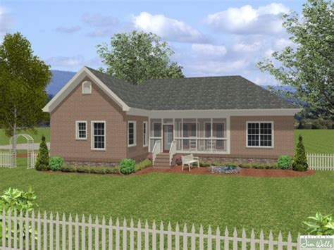 Brick Ranch Style House Plans Small Brick House Plans