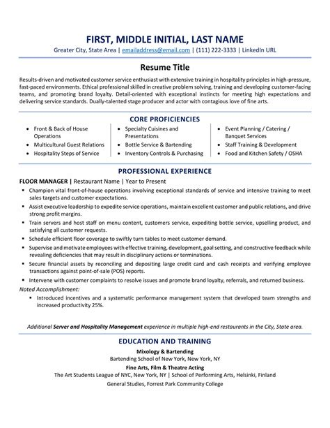 usa resume format  tips  examples updated