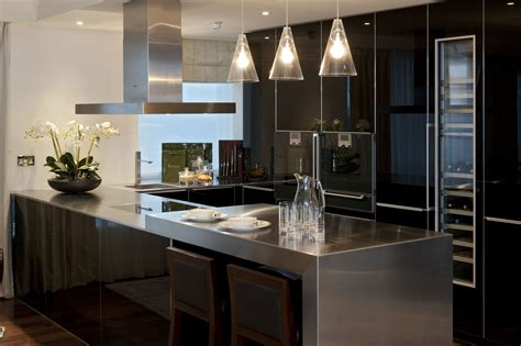 kitchen bar lights riverside apartment harrods interiors 2283
