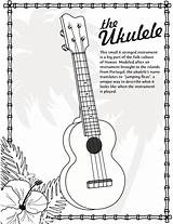 Ukulele Coloring Hawaii Sheet Ukelele Hawaiian Instrument Pages Tips Colouring Guitar Sheets Drawing Crafts Activities Stringed Worksheet Printable Teacherspayteachers Template sketch template