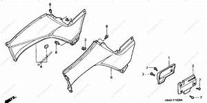 Honda Atv 2001 Oem Parts Diagram For Body    Cover