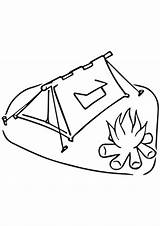 Coloring Pages Camping Tent Campfire Hiking Printable Fire Supercoloring Template Sheets Sc St Unforgettable Scout Trip Boy Getcolorings Clipart Version sketch template