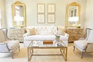 glass and brass coffee table french living room With gold coffee tables living room