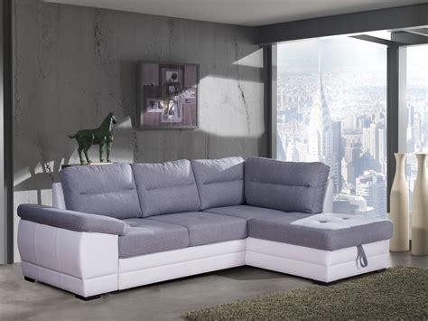 canape d angle contemporain canapé d 39 angle convertible contemporain en tissu gris pu
