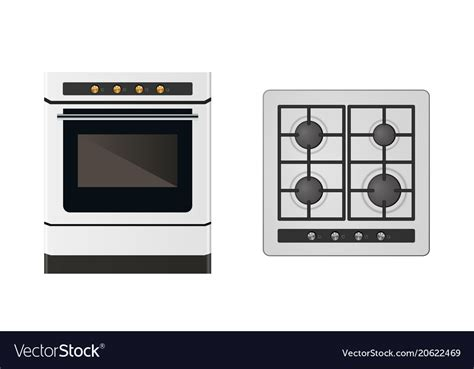 Kitchen Layout Vector by Kitchen Gas Stove Royalty Free Vector Image Vectorstock