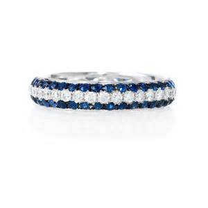 blue sapphire engagement rings white gold 56ct and blue sapphire 18k white gold eternity wedding band ring