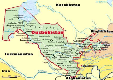 Ouzbékistan: carte