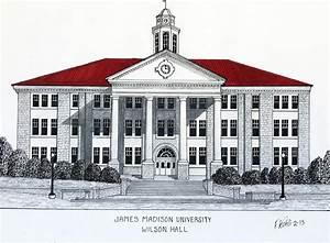 James Madison University Drawing by Frederic Kohli