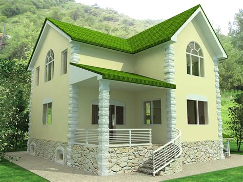 home building ideas design tiny house design ideas the dominant color green paint including natural adjust the roof around