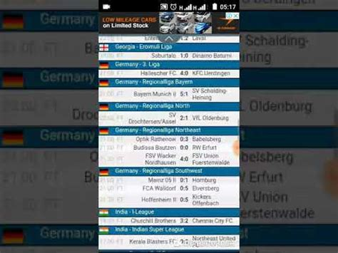 yesterday football results  livescore official hd video  youtube