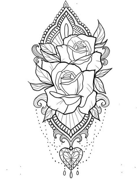 Pin by Tiffany Doucette on Random | Abstract coloring pages, Tattoo drawings, Mandala tattoo