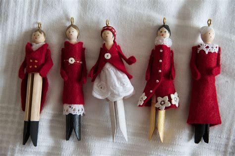 christmas doll ornaments petites poupees de noel