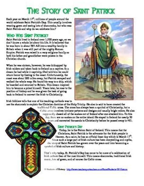 st patricks day history reading worksheet  celtic
