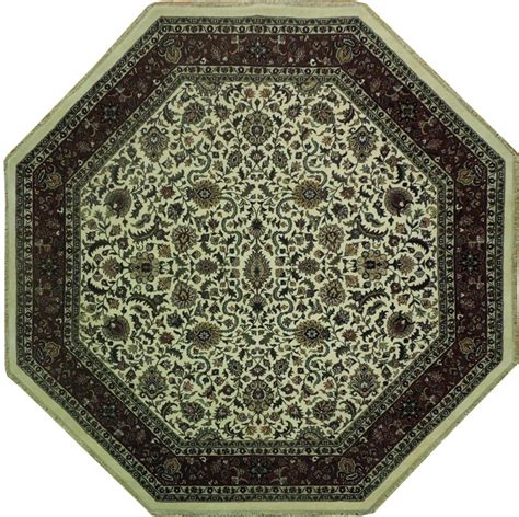 soft fiber rugs 8 octaganal soft wool area rug knotted ebay