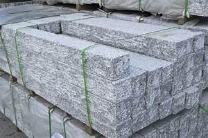 Palisaden Granit Hellgrau 15x15 Cm Gespalten Naturstein