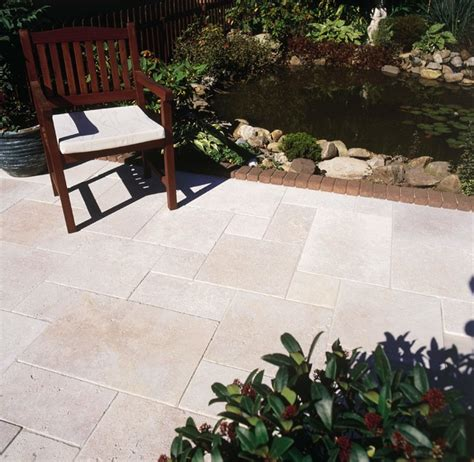 ivory tumbled travertine pavers traditional