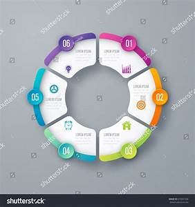 Vector Circle Infographic Template Graphs Charts Stock