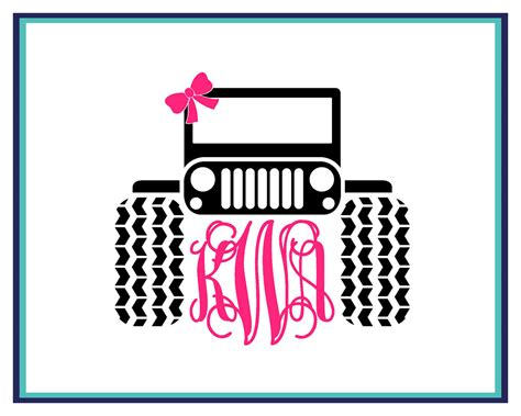 jeep decal with bow jeep monogram decal jeep decal with bow jeep monogram jeep