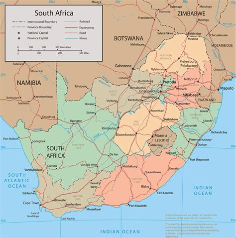map  south africa cities map  south africa pictures