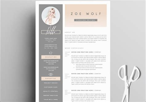modern design resume templates simplefreethemes