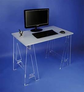 Bureau Sur Tréteaux : mobilier form xl meubles plexi bureaux et tables plexi petit bureau sur tr teaux 309 6 ttc ~ Teatrodelosmanantiales.com Idées de Décoration