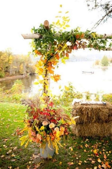 46 Best Outdoor Fall Wedding Arches Images On Pinterest