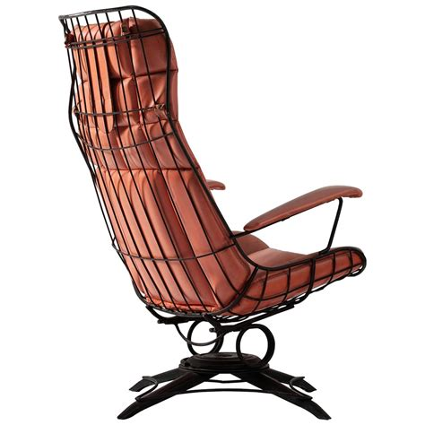 black wire metal rocking chair for sale at 1stdibs