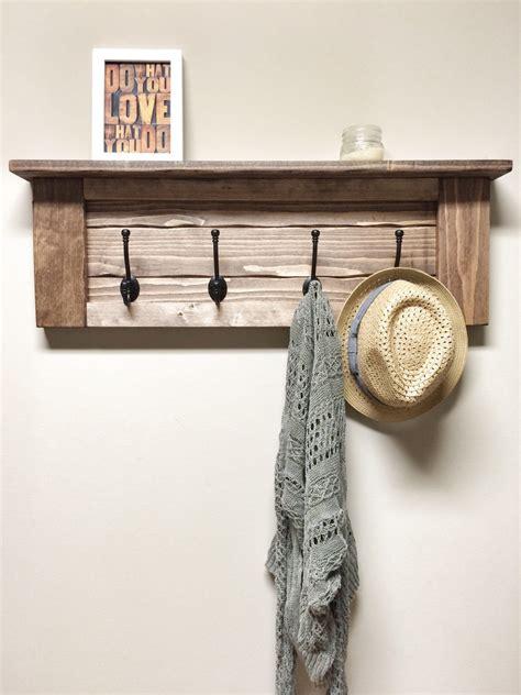 wooden coat rack rustic wooden entryway walnut coat rack rustic wooden shelf