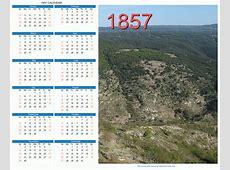 1857 Calendar
