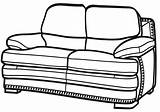 Sofa Coloring Pages Sofa6 sketch template