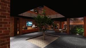 Interior, Courtyard, House, Baroda