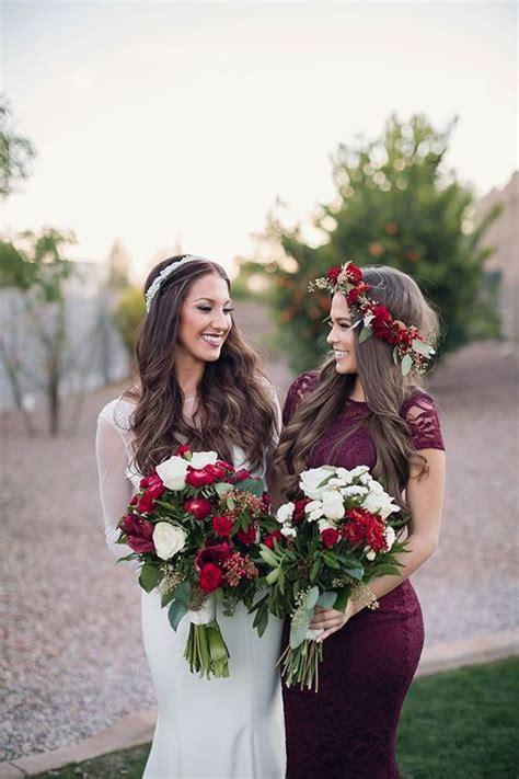 breathtaking burgundy bridesmaid dresses  fall