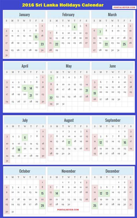 sri lanka calendar  sri lankan holidays