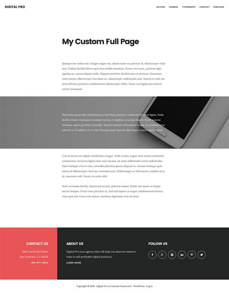 template full widht how to set up a custom page template for full width
