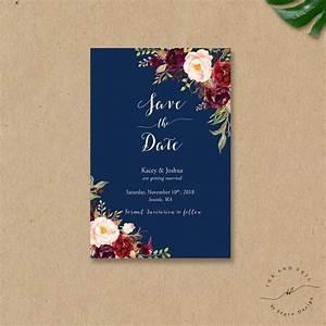 bohemian save the date card fall wedding save the dates With fall wedding invitations and save the dates