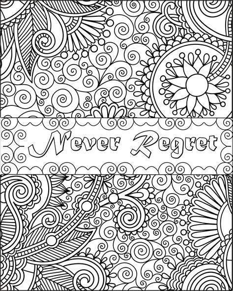 Coloring Quotes For Adults Printable by Printable Inspirational Quotes Coloring Pages Gallery