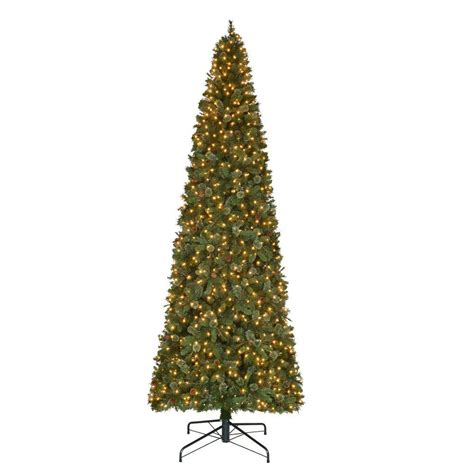 12 ft pre lit led alexander pine artificial christmas quick set tree with 2850 tips and warm