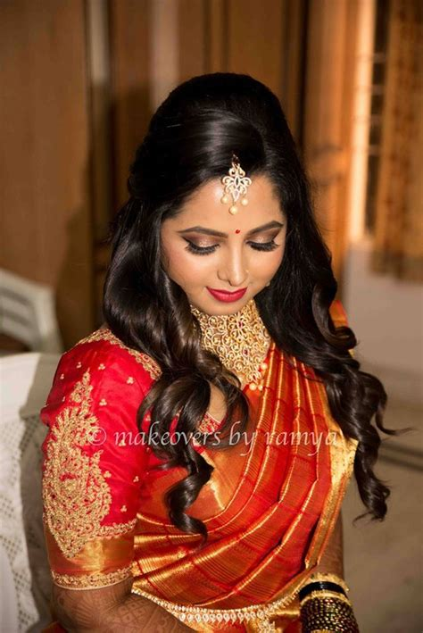 south indian bride reception hairstyle south indian