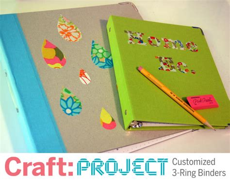 craft project customized  ring binders