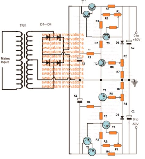 Amp Variable Dual Power Supply Circuit