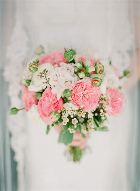 Light Pink White And Green Bridal Bouquet Elizabeth Anne