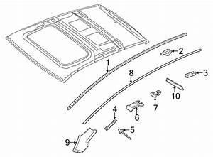 Porsche Panamera Roof Edge Strip Flap Bracket  Moldingclip
