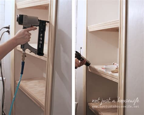how to build a wall bookcase step by step bathroom shelves stacy risenmay