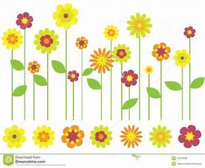 Bright Spring Flower Garden Stock Photo - Image: 14410040