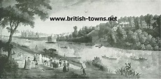 The Thames and Palace at Richmond of Richmond Palace. Site of,