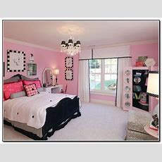 Big Classy Pink And Black Girls Bedroom  Tumblr Bedroom