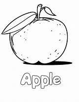 Apple Coloring Printable Fruit Drawing Lemonade Sheets Bitten Bestcoloringpagesforkids Worksheets Getdrawings Fruits Nature sketch template
