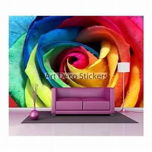 Deco Multicolore : stickers muraux g ant d co rose multicolore stickers muraux deco ~ Nature-et-papiers.com Idées de Décoration